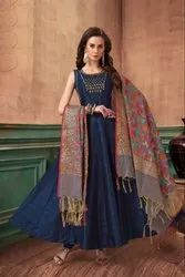 72ae987664 Ladies Designer Anarkalis Suits Manufacturer - Kalidar Embroidered ...