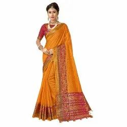 Designer Cotton Silk Weaving Saree ,6.3 mtr