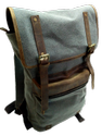 Gray Canvas Hiking Backpack