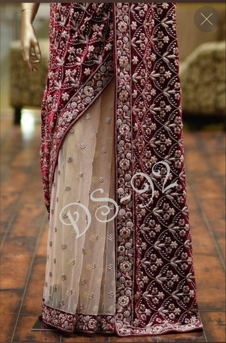 0e6d1b8ec9a7d Multicolor KARMA FRESH LOOKS Velvet Saree