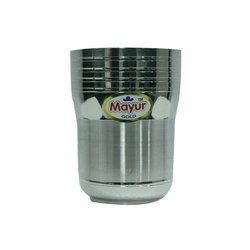 UNO Ringer Stainless Steel Drinking Glass