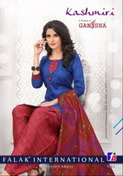Ganesha Kashmiri Patiyala Printed Cotton Dress Material Catalog Collection at Textile Mall