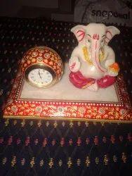 Blessing Ganesha Handmade Marble Gift For Functions