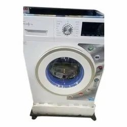 White Fully Automatic Onida Front Load Washing Machine, For Cloth Washing