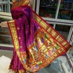 Handwark Pure Yeola Paithani Saree, With Blouse Piece