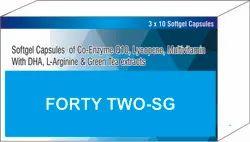 Softgel Capsules of Co-Enzyme Q10 Lycopene Multivitamin