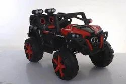 Red And Black Plastic Battery Operated Kids Double Seated Car