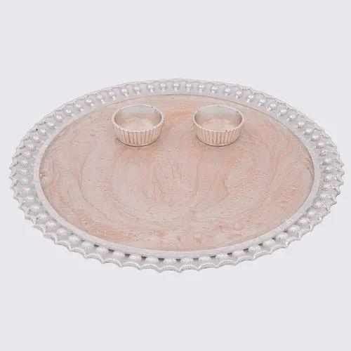 Enameled 7 25 Dia Thaali Plate