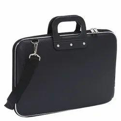 Black AF LEATHER LAPTOP BRIEFCASE BAG