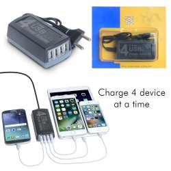 4 Port Usb Charger Adapter