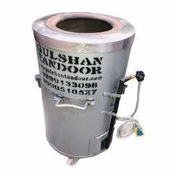 S Steel Top Gas And Charcoal Tandoor 18X28