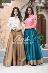off white Embroidered Skirt Sets, Age Group: 18-40