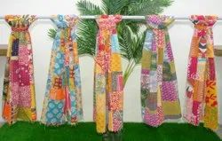 Vintage Cotton Kantha Patchwork Scarves