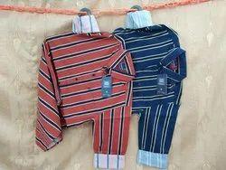 JJ Cotton Mens Striped Shirts
