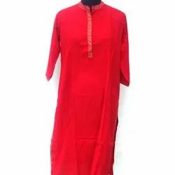 Cotton Casual,Party wear Rayon Plain Long Kurti, Machine wash
