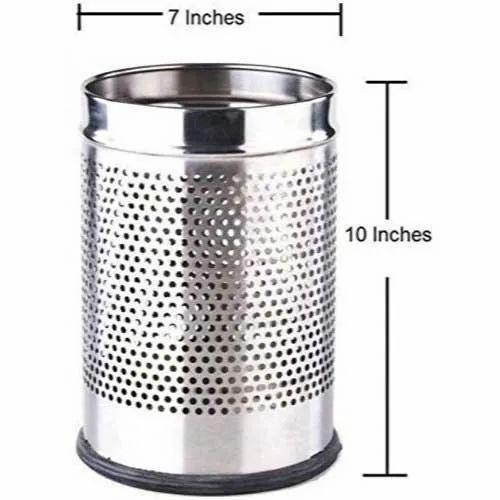 7 X 10 Inch Stainless Steel Dustbin