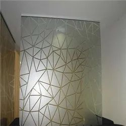 Acid Etched Glass Partition, Thickness: 5-8mm