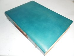 Blue Leather Handmade Writing Journal