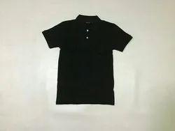 Plain Polo Black T Shirt