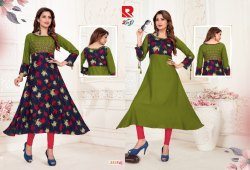 Raashi-Two In One Umbrella Style Two Side Wearable Kurtis