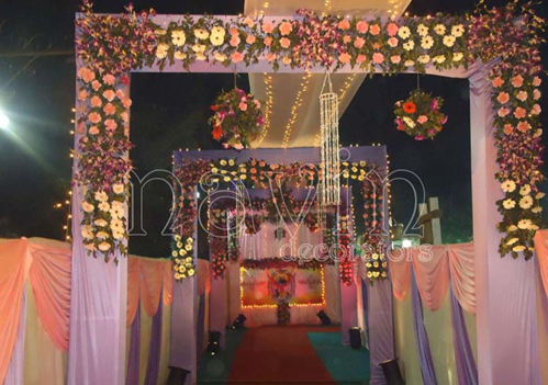 Gate decoration with flower stage shows events from ahmedabad gate decoration with flower junglespirit Images