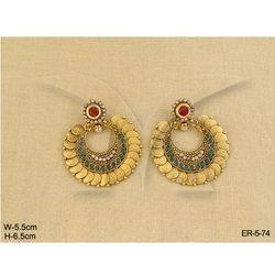Laxmi Coin Earrings