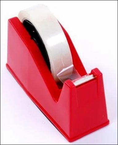 Plastic For Office College Cello Tape Dispenser And Cello Tape, Size: Standard