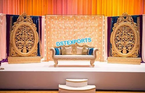 Fiber Backdrop Panels Glorious Wedding Stage Oval Panels Exporter From Patiala
