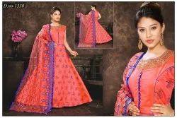 Modal silk Embroidered Ladies Ethnic Wear
