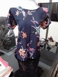 Casual Half Sleeves Rayon Short Tops