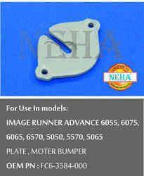 Plate, Moter Bumper OEM PN : FC6-3584- 000, For Use In Models Image RUNNER ADVANCE 6055, 6075, 6065