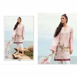 Regular Wear Dhanlaxmi Silk Mills Floral Printed Dress Material