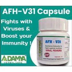 AHC Afh V31 Antiviral Capsule, Adamya Herbal Care, 15 Capsules