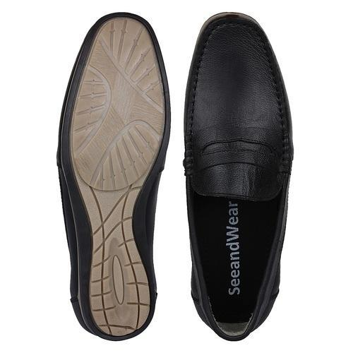 bf09e6f1c5 Black Formal And Daily Wear Genuine Leather Loafer Shoes For Men, Rs ...