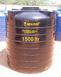 Black Plastic 1500 Litre Water Storage Tanks