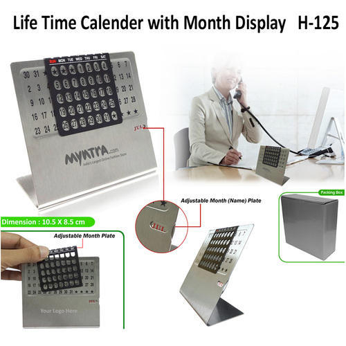 English & Tamil Screen Printing Life Time Calendar with Month Display, Size: A5