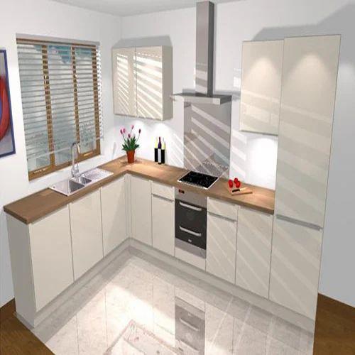 Plywood L Shape Modular Kitchen, Rs 400 /square Feet