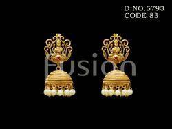 Traditional Matt Temple Earrings