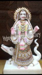 Marble Maa Ganga Statue