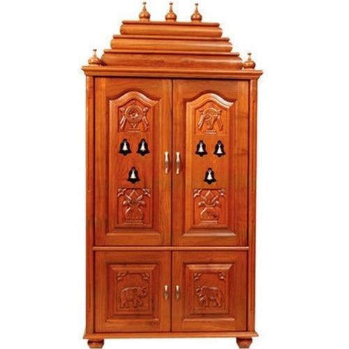 Exceptionnel Brown Pooja Cabinet