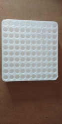 White Moulding EPS Thermocol Tray Blood Collection Tubes, Thickness: 10mm, Capacity: 10x10
