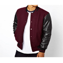 Mens Leather Full Sleeve Stylish Jacket, Size: L