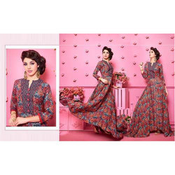 Printed Anarkali Long Kurti