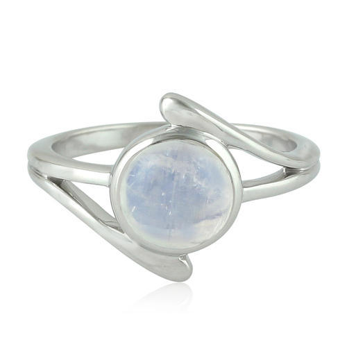 Designs Of Stone Rings   Gemco Designs Sterling Silver Semi Precious Moon Stone Ring Rs 772