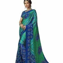 Latest Designer Chiffon Bandhni Saree
