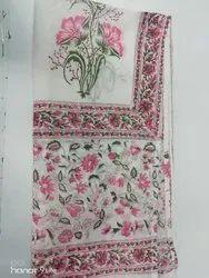 Hand Printed Pink 2.5 Meter Dupatta
