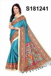 Foil Printed Khadi Silk Sarees