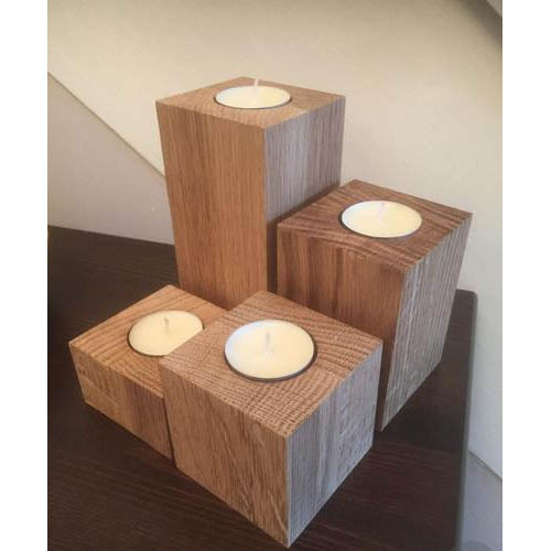 Wooden Multi Candle Holder