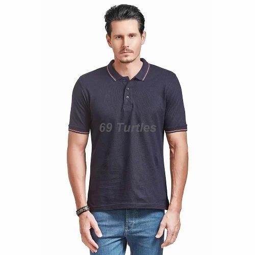 8dd2e57e84f Cotton Plain Half Sleeve Men's T Shirt, Rs 650 /piece, Meenu ...