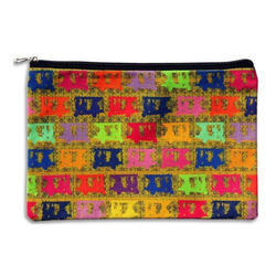 Vibrant Taxis Canvas Utility Pouch